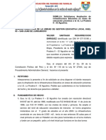 Petitorio a La Ugel 05