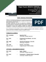 CV Edgar Añazco