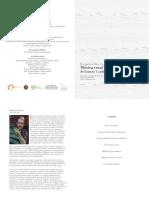 Programa de la presentación del libro Música vocal con sabor caribeño de Ernesto Cordero