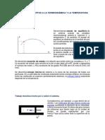 Algunos Conceptos a La Termodinámica y La Temperatura