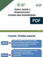 Modul Dasar-3 Penghapusan Stigma Dan Diskriminasi