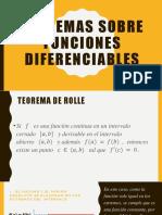 Teoremas Sobre Funciones Diferenciables