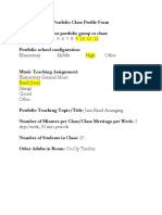 portfolio class profile form