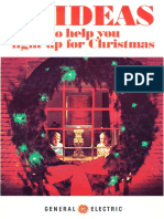 GE Christmas Lighting Idea Brochure 1972