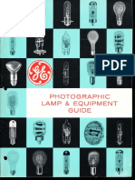 GE Photographic Lamp Guide 1966