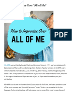 How to Improvise Over All of Me
