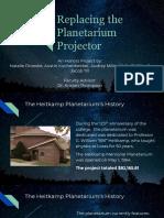 replacing the planetarium projector - fall 2018