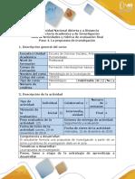 Guía de Actividades y Rúbrica de Evaluación - Paso 4 - Formular La Propuesta de Investigación
