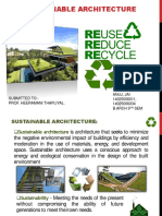 Sustainable Architcture