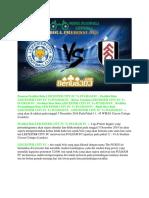 Prediksi Bola Leicester City Fc vs Fulham Fc 5 Desember 2018