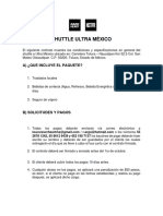 Contrato Shuttle Ultra Mx