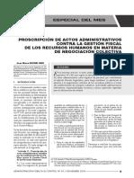 Prohibición de Actos Contrarios a La Gestión Fiscal de Recursos Humanos en La Negociación Colectiva - Autor José María Pacori Cari
