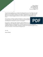 frances holland cover letter