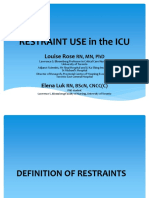 Restraint Use in the Icu