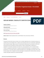 EDGAR MORIN, CHANLAT E INSTITUCIONALISTAS _ Farol - Revista de Estudos Organizacionais e Sociedade