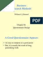 Ch 04 Questionnaire
