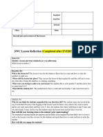 reflection lesson plan form