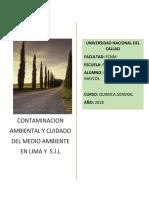 Contaminacion Ambiental en San Juan de Lurigancho