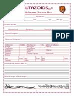 Mutazoids3e- Multi-Purpose Character Sheet