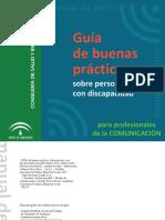 Guía de buenas prácticas sobre personas con discapacidad para profesionales de la comunicación