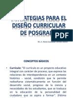 ESTRATEGIAS Para El Diseño Curricular de Posgrado
