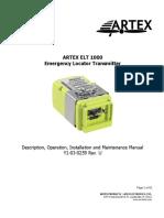Product Manual ELT 1000 ARTEX