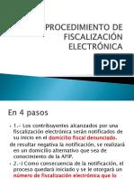 El Procedimiento de Fiscalización Electrónica(1)