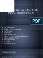 Causas y Consecuencias de La Falta de Ética Profesional
