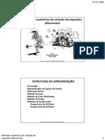 Métodos Numéricos de Solução de Equações Diferenciais