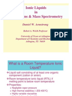 Armstrong Lecture Ionic Liquids in Separations and Mass Spe