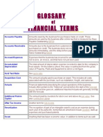 GLOSSARY of Financial Management