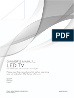 Lg Led Tv Owner's Manual