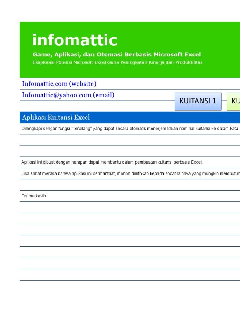 Format Kwitansi Kosong Excel
