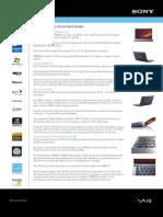 Sony VAIO VGN-Z530NB spec sheet FINAL