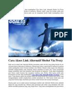 Cara Akses Link Alternatif Sbobet via Proxy