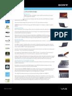 Sony VAIO VGN-Z520NB spec sheet