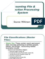 5 Accounting File Transaction Processing System