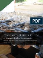 Concrete Repair Guide for Concrete Bridge Components