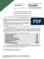 Current Trends in Internal Audi 2014 Procedia Social and Behavioral Scienc
