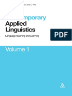 [Contemporary Studies in Linguistics] Li Wei, Vivian Cook - Contemporary Applied Linguistics_ Volume One Language Teaching and Learning  Volume 1(2009, Continuum).pdf