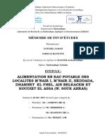 Alimentation en Eau Potable Des Localites m'Nair i, m'Nair II, Heddada, Dhamnet El Fhel, Ain Belk