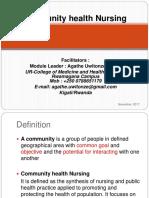 Community Health 2 Power Point