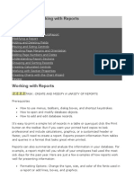 MS Access - Working With Reports