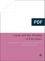 (Bloomsbury Literary Studies_Continuum Literary Studies) Azari, Ehsanullah_ Lacan, Jacques-Lacan and the Destiny of Literature _ Desire, Jouissance and the Sinthome in Shakespeare, Donne, Joyce and As