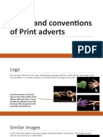 Codes and Conventions of Print Adverts