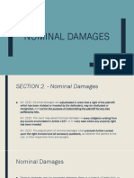 Nominal Damages