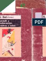 Ball, Stephen - Foucault y la educación. Disciplinas y saber.pdf