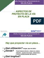 Aspectos de Proyecto de Vía en Placa