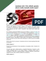 Por Que o Comunismo Não é Tão Odiado Quanto o Nazismo