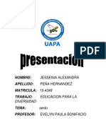 Tarea 6 Educacion Para La Diversidad Jessenia Peña 15-4349